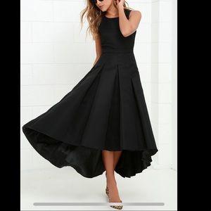 NWT black Lulus high-low dress